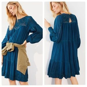 Anthropologie Sharon embroidered tunic dress